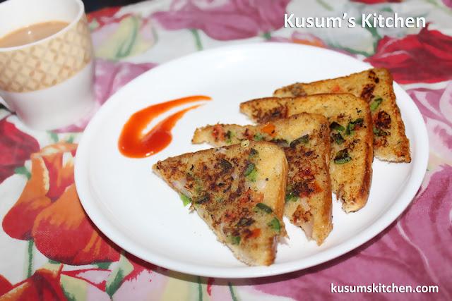 Suji breas toast or sooji toast recipe