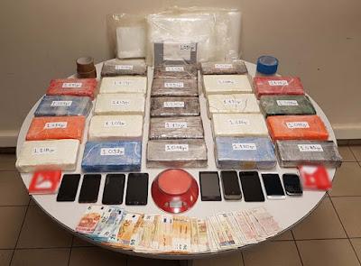 26 κιλά και 677 γραμμάρια κοκαΐνης σε εργοστάσιο της ΒΙΠΕ Πρέβεζας!