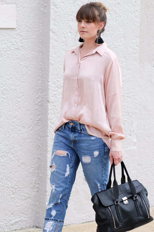 Satin Blush Blouses