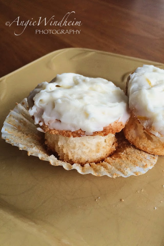 Angel Cupcakes with Lemonade Cream Cheese Frosting