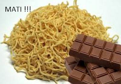 Mengejutkan! Bahaya Makan Mie + Coklat = Mati