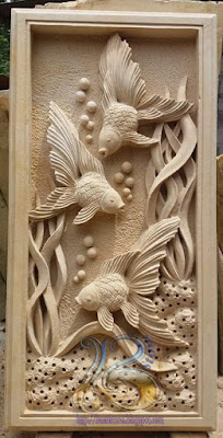 relief ikan koki batu paras