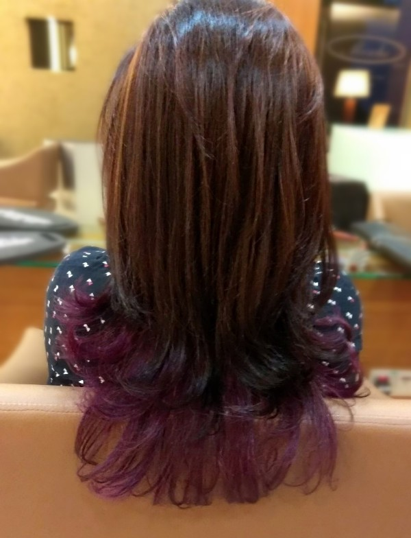 christmas purple long hairstyles mosche grand hyatt