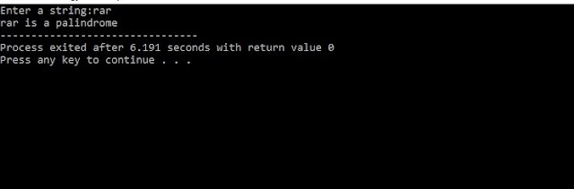 C program to check whether the word is palindrome or not