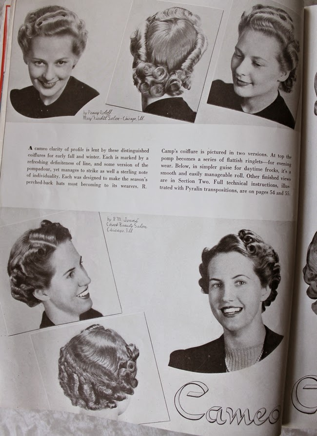 1940 american hair dresser magazine vintage pin curls and rolls