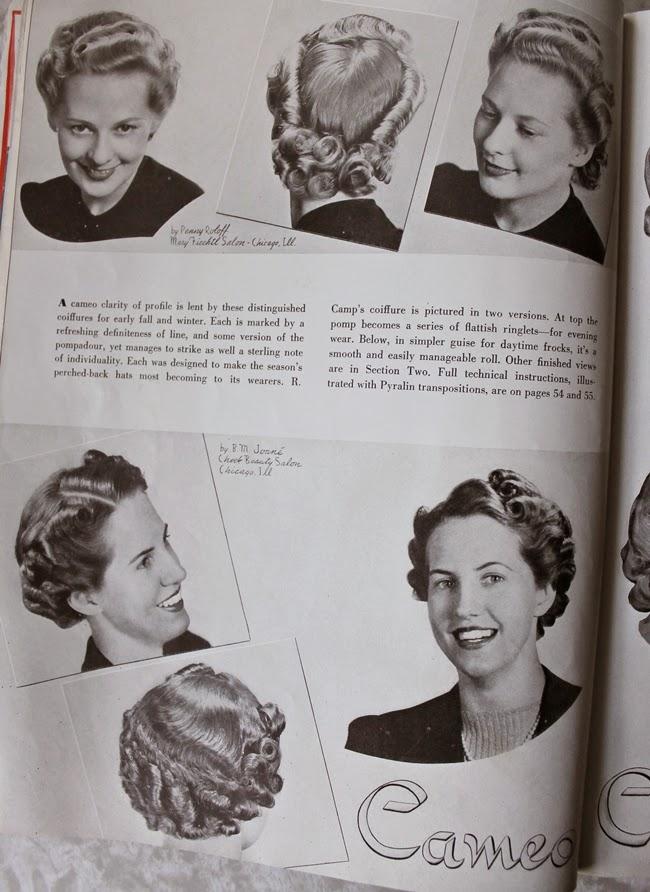 1940 american hair dresser magazine vintage pin curls and rolls