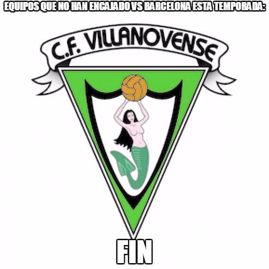 The Best Meme Of The Villanovense Vs Fc Barcelona