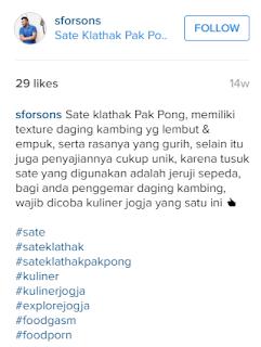 Sate Klathak Pak Pong