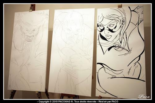 dessins de Firestar au marqueur sur toile