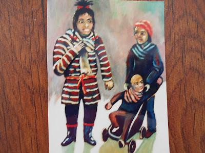 Pintura de unos inmigrantes