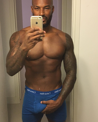 Boxers alert! Tyson Beckford puts his genitals on display