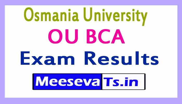 Osmania University OU BCA Exam Results 2017