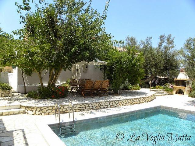 Cefalonia Villa Kalogris zona piscina
