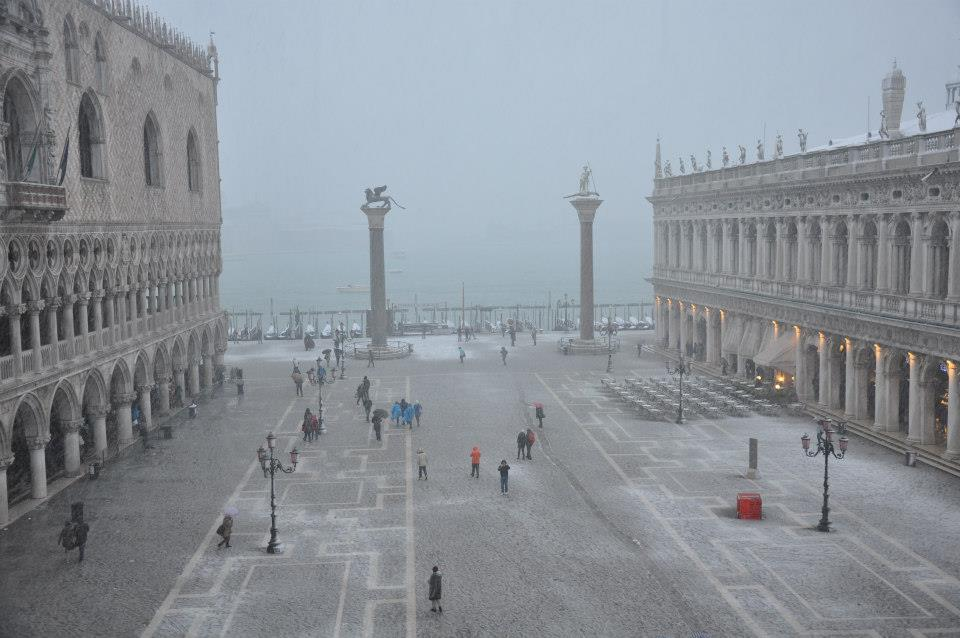 Venice in Winter, View from St. Mark's Basilica