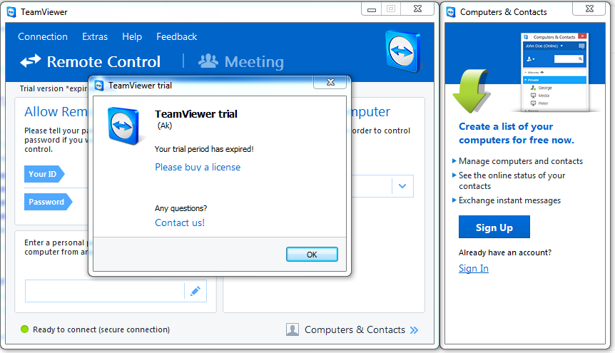Hướng dẫn khắc phục lỗi Teamviewer bị hết hạn hay Trial thành công 100%