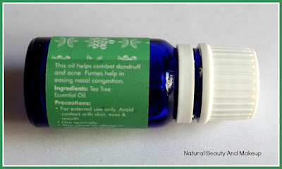 Fabindia Tea Tree Essential Oil: Review, Price & Other Details on Natural Beauty And Makeup Blog