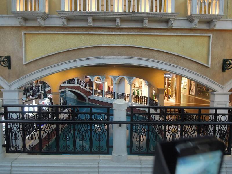 A view of the canal at The Venetian Macao Resort Hotel