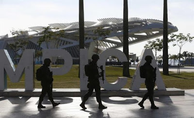 Deportistas de Israel y de Japón que disputarán los Juegos Olímpicos de Río de Janeiro 2016 y que optaron por Sao Paulo para prepararse comenzaron esta semana sus entrenamientos bajo un fuerte esquema de seguridad.