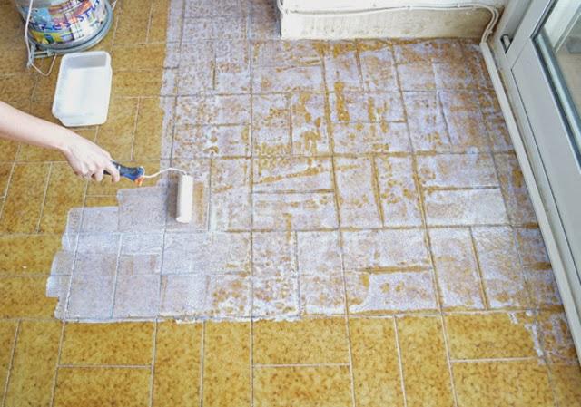 Diy el cambio del suelo de mi casa con las laminas de - Papel adhesivo para decorar ...
