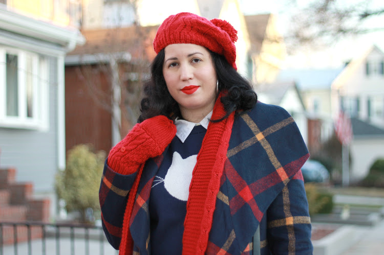 A Vintage Nerd NY Blogger Retro Fashion Modcloth Plaid Coat