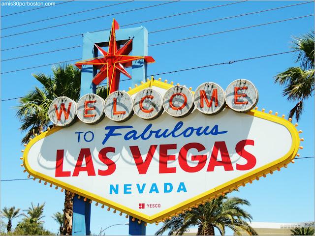 Señal de Bienvenidos a Las Vegas en Nevada
