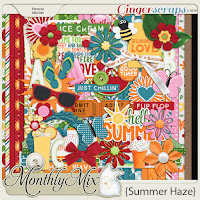 Kit : Summer Haze by GingerScraps designers.
