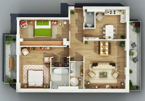 Home Interior Design 3D image type 36