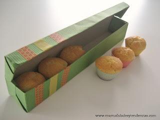 Idea regalo: Caja de pasteles / Boîte à cadea avec gâteaux / Gift box cup cakes
