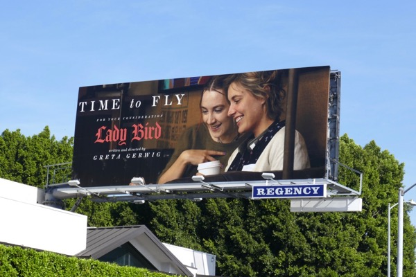 Lady Bird Oscar FYC billboard
