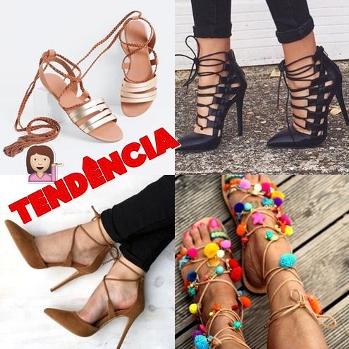 #16 - Tendência: Sandálias com Amarrações