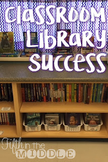 How I organize my classroom library using baskets, wall files, labels, and more!