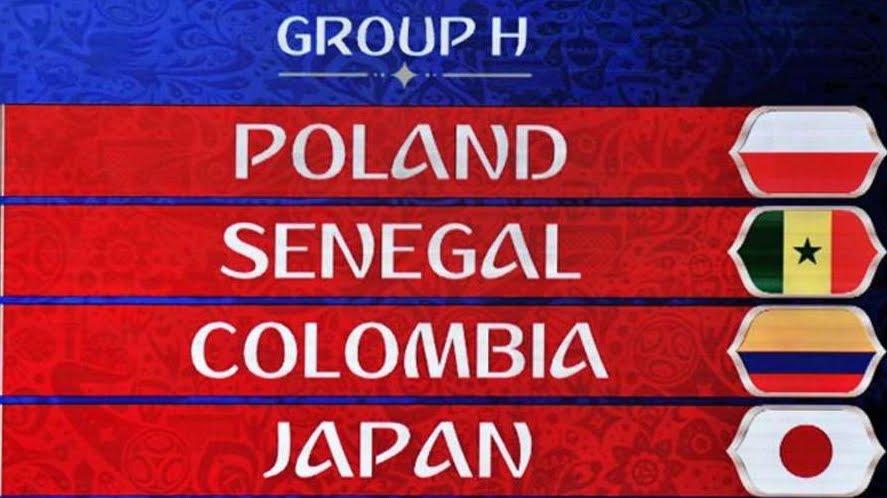 Russia 2018: Risultati Classifica Gruppo H con Giappone Colombia Senegal Polonia | Mondiali di Calcio