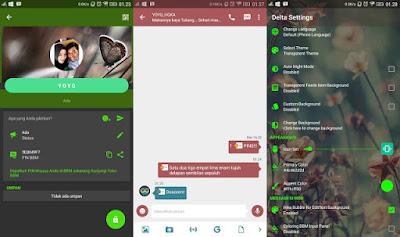 Aplikasi BBM Mod Android Delta v 2.13.0.22 Release Terbaru Changelog v3.3.0
