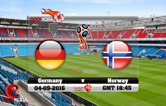 مشاهدة مباراة النرويج وألمانيا اليوم 4-9-2016 تصفيات كأس العالم