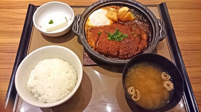 味噌かつ煮定食の写真