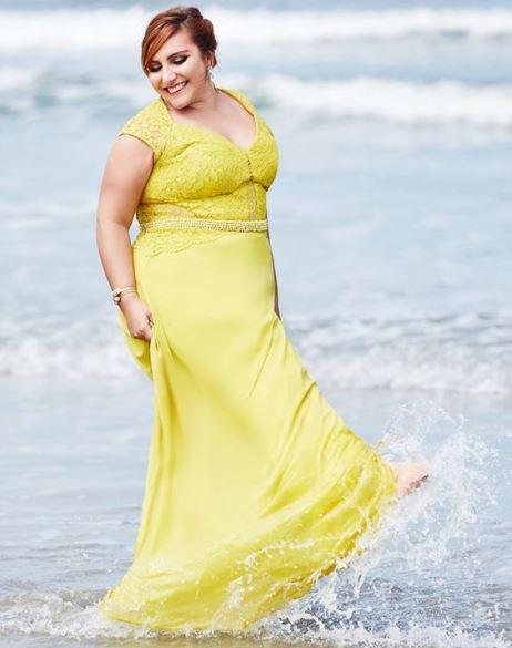 vestido de festa amarelo longo madrinha
