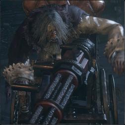 Wheelchair Huntsman (Gatling Gun)