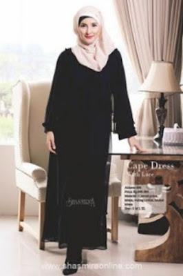 Model Baju Gamis Muslim Sifon Modis dan Trendy Terbaru