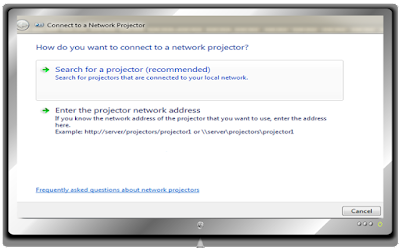 Cara mengaktifkan Connect to a Projector di windows 7