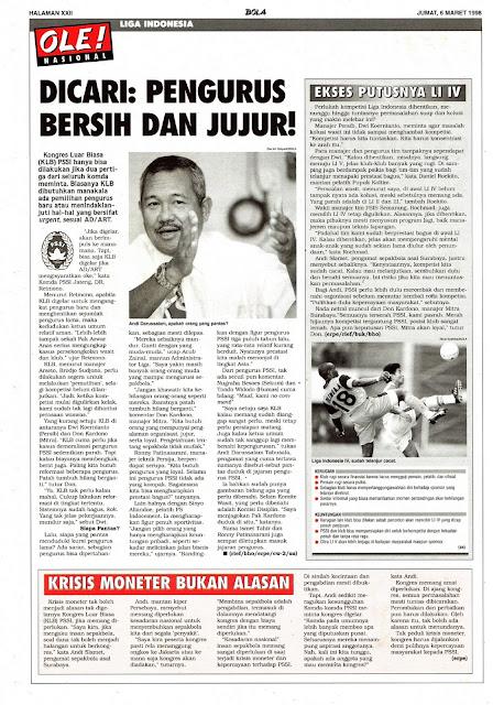 PENGURUS BERSIH DAN JUJUR UNTUK LIGA INDONESIA