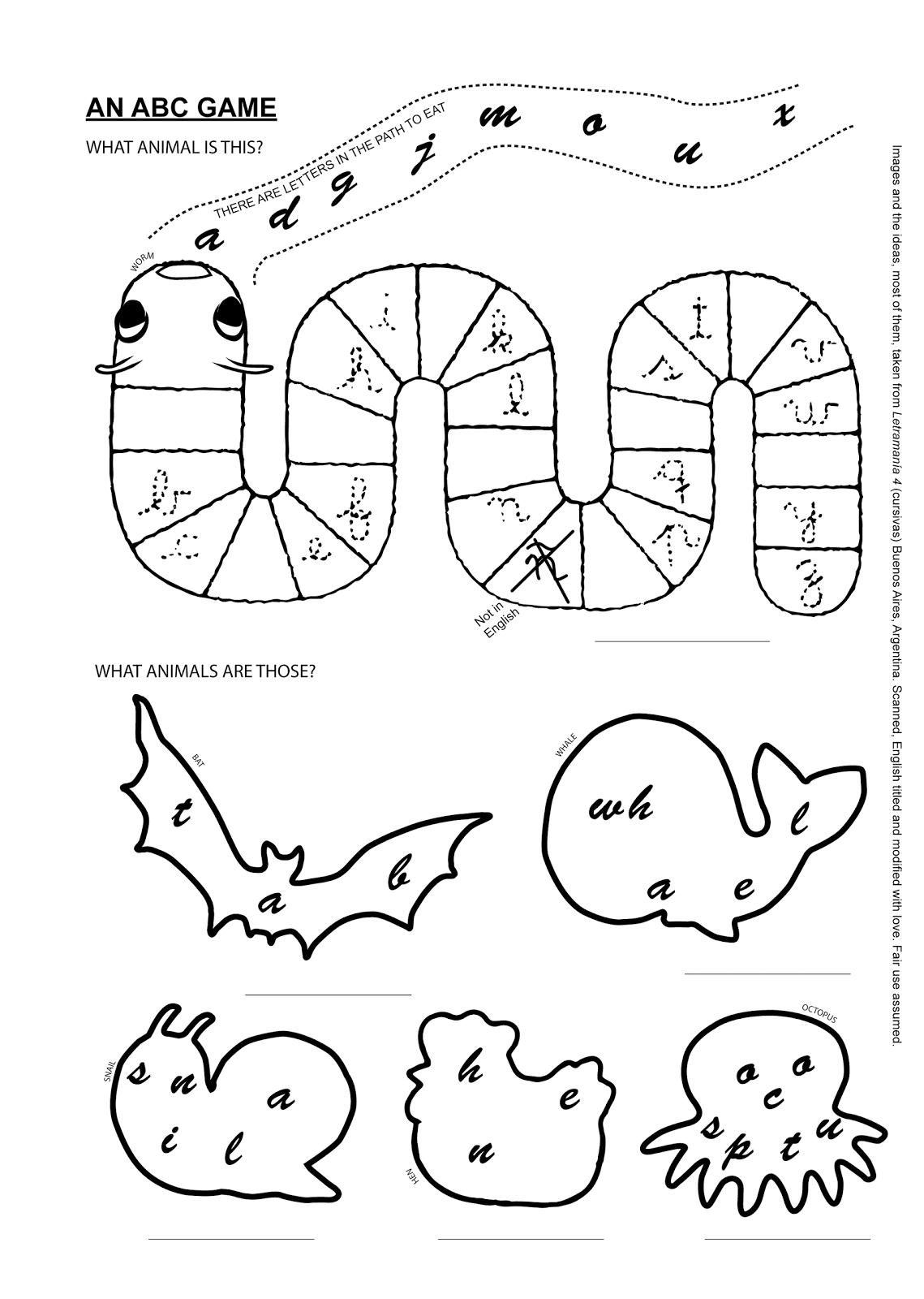 Páginas para colorear originales Original coloring pages: AN ABC ...