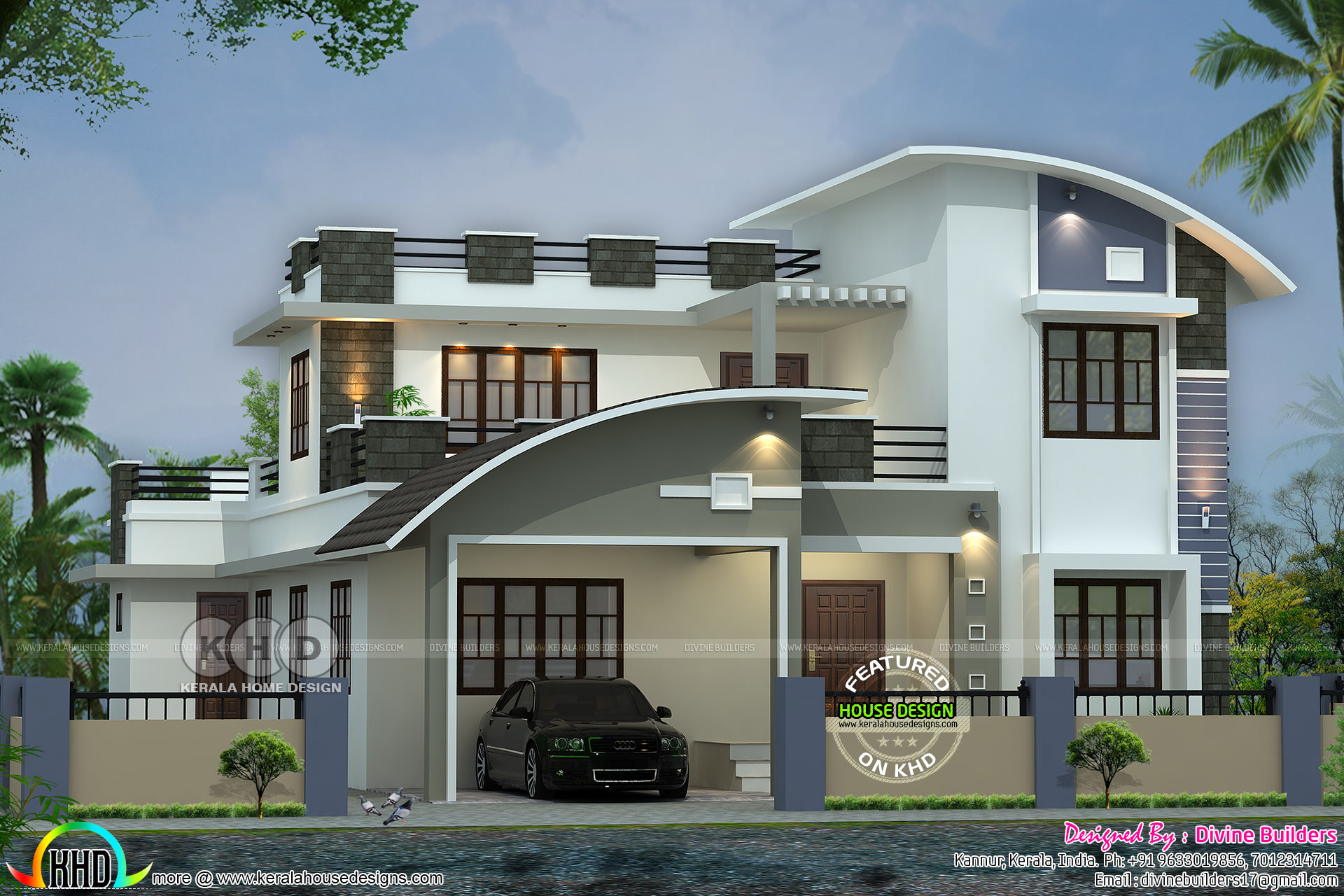 2870 Square Feet Modern Mix Home ₹52 Lakhs