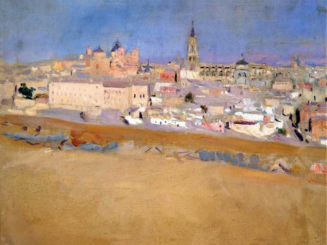 Paisaje  en Toledo, Joaquín Sorolla y  Bastida, Joaquín Sorolla, Paisajes de Joaquín Sorolla, Impresionismo Valenciano, Joaquín Sorolla Bastida