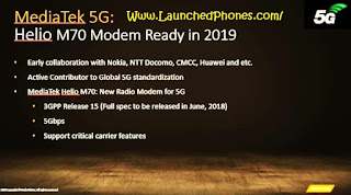 These processors volition last launched for the premium phones at the maiden of all afterward or thence fourth dimension the MediaTek Helio M70 Will last a 5G Processor