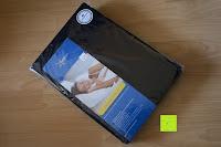 Verpackung: GOLD STERN Premium Spannbettlaken (185 GSM) bis 35 cm Matratzenhöhe (140x200 cm bis 160x200 cm, Schwarz)