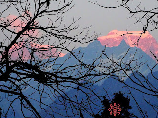 View of Hathi Parbat in Evening