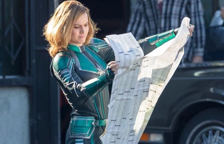 "Brie Larson surge como Capitã Marvel no set de ""Vingadores 4"""
