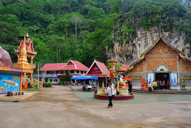 Vue d'ensemble des temples : des couleurs dans le vert de la jungle !