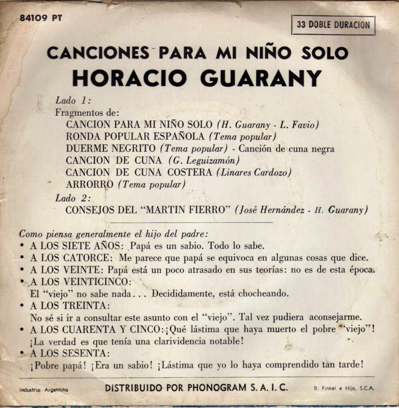 horacio guarany descargar cancion para niño tapa
