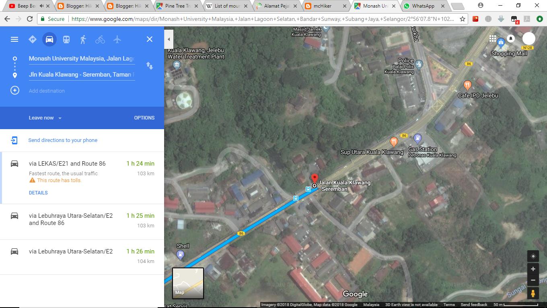 Direction to the Jabatan Perhutanan Negeri Sembilan